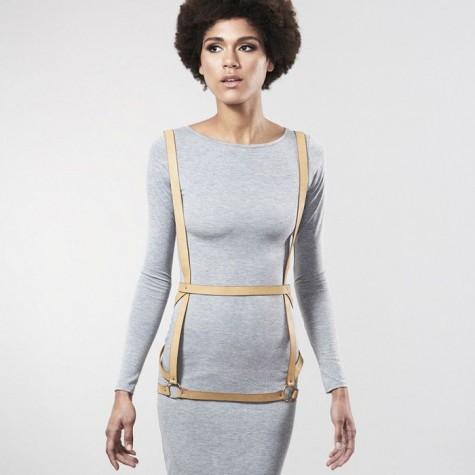 Бежевая упряжь ARROW DRESS HARNESS