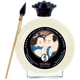 Декоративная крем-краска для тела с ароматом шоколада и ванили